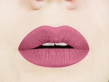 rosy rose liquid lipstick swatch