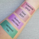 metallic liquid-to-matte lipstick swatches