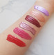 swatches of lip tints vegan and cruelty-free handcrafted