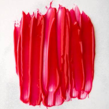 red hibiscus sheer lip tint handmade