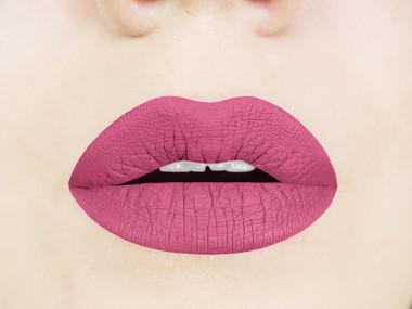pink rosette  liquid lipstick swatch