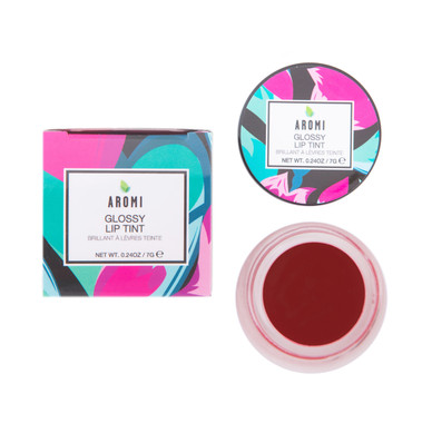 aromi royal red glossy lip tint