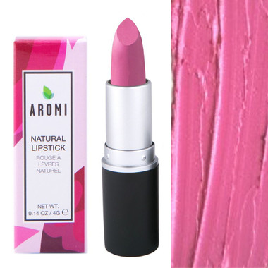 Pretty pink natural lipstick |  vegan + cruelty-free