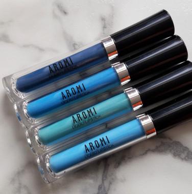 blue liquid lipstick bundle  4 blue shades made in the U.S.A.
