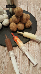 Chocolate Mousse and Cheesecake Syringes