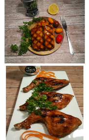Honey Glazed Salmon and Chicken
