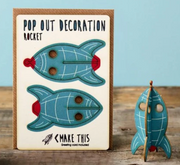 Pop Out Decoration Rocket with Greeting Card