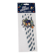 Pack of 4 Space Adventure Party Straws