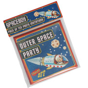 Set of 10 SpaceBoy Party Invites