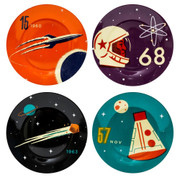 Cosmos Side Plates - Set of 4