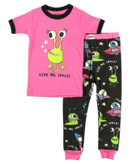 051a778f6a LazyOne Give Me Space Alien Girl Kids PJ Set - Loops   Pluto