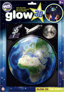 The Original Glowstars Company - Glow 3D The Earth Sticker Pack
