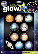 The Original Glowstars Company - Glow 3D Large Planets Sticker Pack