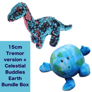 Ty Tremor Dinosaur Limited Edition 15cm + Celestial Buddies Earth Bundle Box