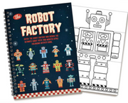 The Robot Factory Colour in Flip Book