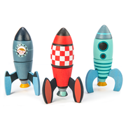 Wooden Rocket Construction Set