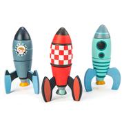 Wooden Rocket Construction Set