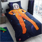Space Chimp Panel Duvet Set - Single