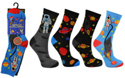 Space Explorer Kids Novelty Socks