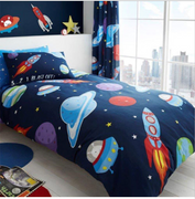 Outer Space Rotary Duvet Set - Single