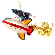 Outer Space Christmas Tree Rocket Shaped Bauble