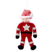 Outer Space Astronaut Santa Hanging Felt Decoration