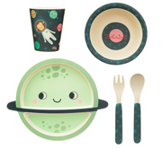 Space Explorer Bamboo Tableware Set