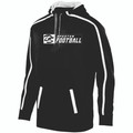 HOODIE - POLYESTER - BLACK/WHITE