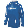 HOODIE - POLYESTER - ROYAL/WHITE