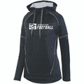 HOODIE - LADIES - POLYESTER - BLACK/WHITE