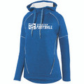 HOODIE - LADIES - POLYESTER - ROYAL/WHITE