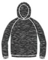 Drifit Long Sleeve with Hood - HEATHER BLACK