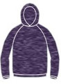 Drifit Long Sleeve with Hood - HEATHER PURPLE