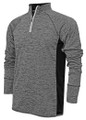 1/4 ZIP PULLOVER - DRI-FIT - HEATHER / BLACK - EMBROIDERY - COWBOY