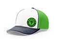 MESH HAT - WHITE/NEON GREEN/NAVY - DOHERTY SPARTAN LOGO