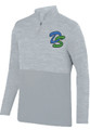 1/4 ZIP HEATHER TONAL PULLOVER - SILVER - DOHERTY SPARTAN LOGO