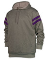 HOODIE - POLYESTER - HEATHER BLACK/PURPLE - DCC LOGO ON FRONT