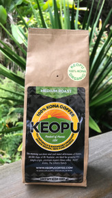 1/2 lb (8oz/227g) organic 100% Kona coffee, whole bean or ground, medium roast