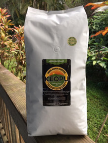 5lb  (80 oz) ORGANIC 100% Kona, Medium Roast, Whole Bean