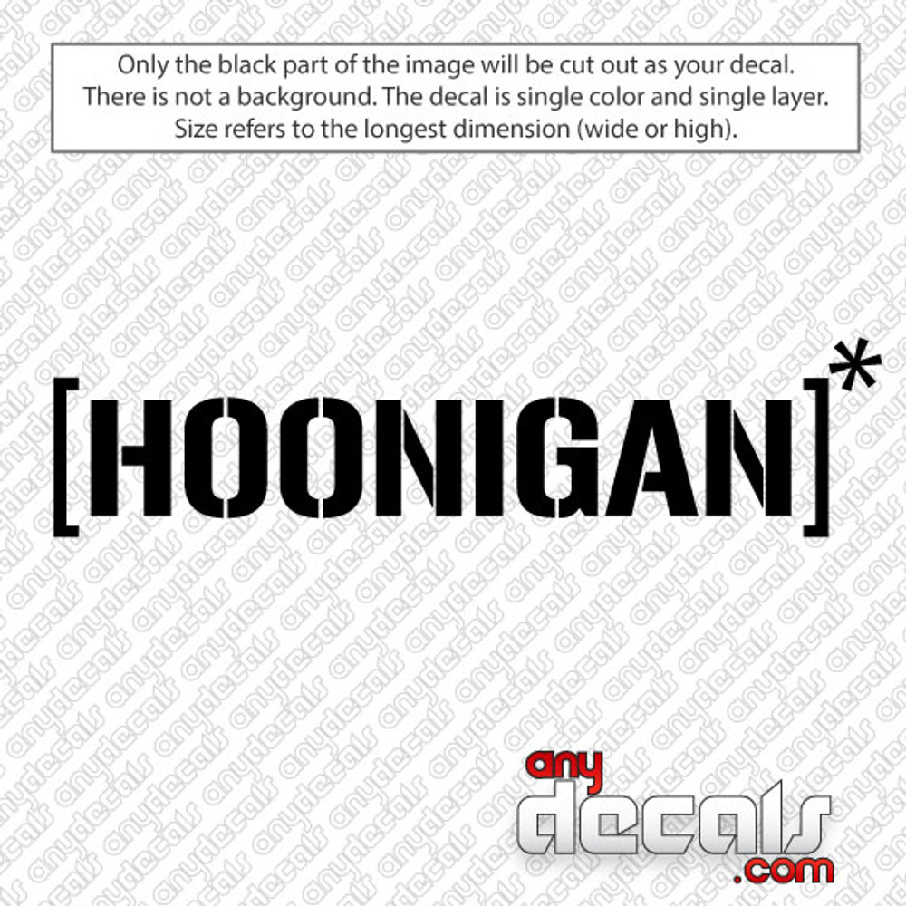 Hoonigan Car Decal