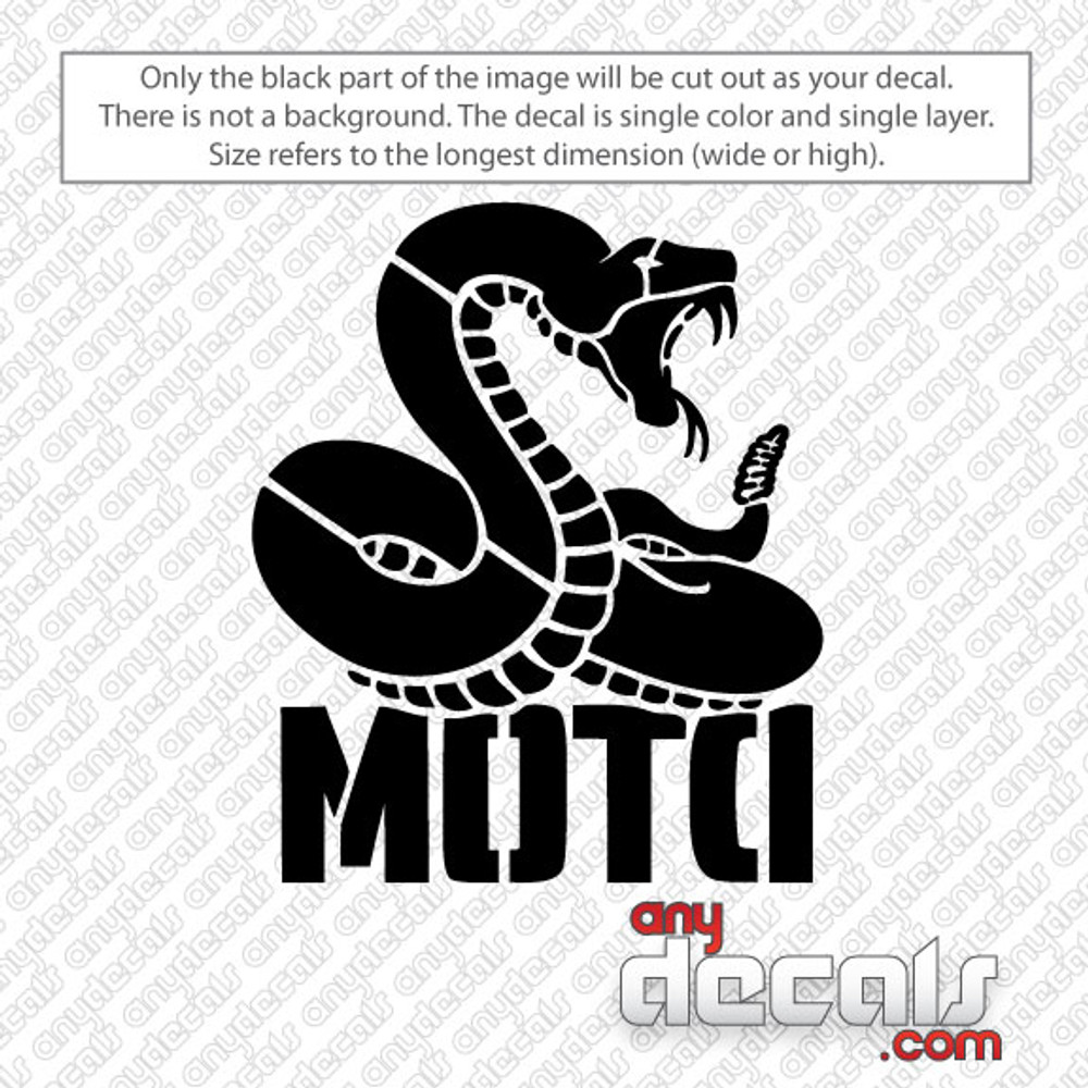 DTOM with Snake Car Decal