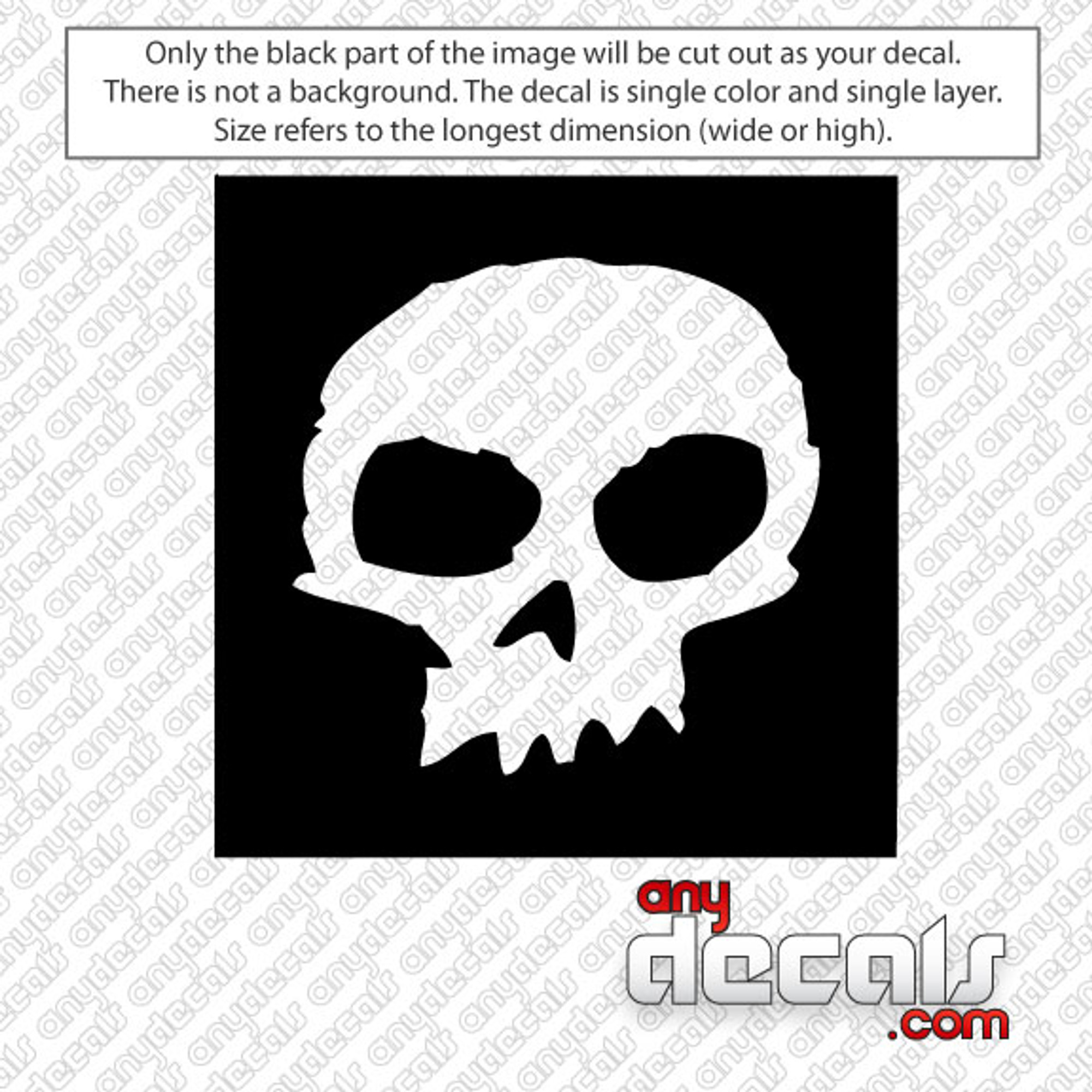 Car Decals Car Stickers Zero Skateboards Skull Logo
