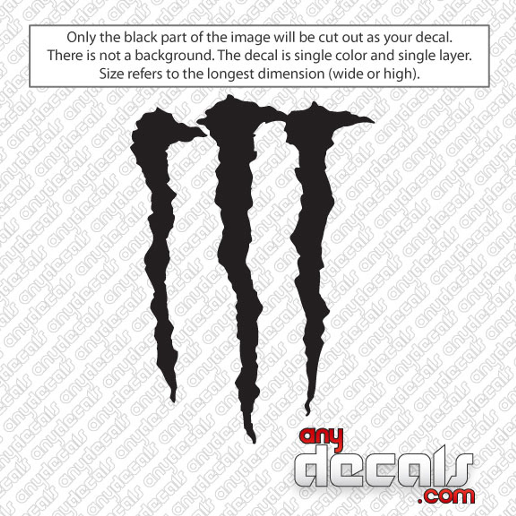car decals car stickers monster energy 39 m 39 car decal. Black Bedroom Furniture Sets. Home Design Ideas