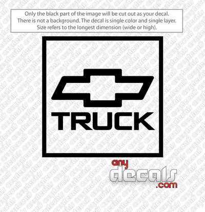 car decals, vehicle decals, chevy truck bowtie decals