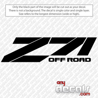car decals, truck decals, chevy Z71 decals