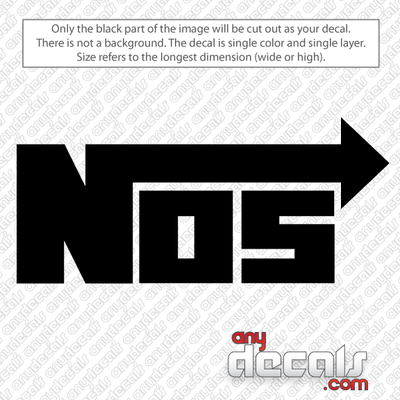 NOS car decals, energy drink car decals