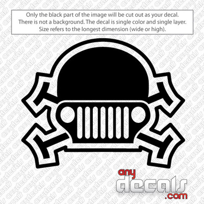 Jeep Skull car decals, car decals, jeep stickers