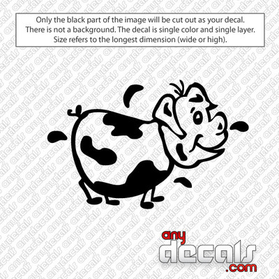 Betsy the California Cow Car Decal