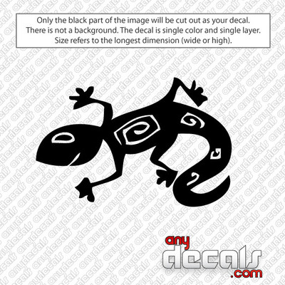 Rex the Crazy Lizard Car Decal