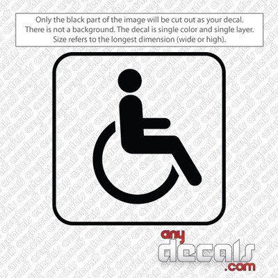 handicap symbol car decals and stickers